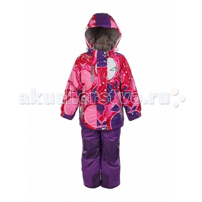 Oldos Комплект для девочки ЛораКомплект для девочки ЛораКомплект для девочки OLDOS Лора  отлично подойдет как для зимних прогулок в городе, так и для активного отдыха на природе. В нем девочке будет тепло и удобно заниматься любительским спортом в холодную и ветреную погоду.  До 116 размера в комплекте идет куртка и полукомбинезон, а со 122 размера - брюки со спинкой.  Костюм сочетает в себе самые передовые технологии, сложный крой и яркий дизайн. Благодаря мембранной ткани он обладает надежной защитой от ветра и мокрого снега и хорошо дышит. Для дополнительной защиты от мокрого снега на ткань нанесено специальное тефлоновое покрытие.  Утеплитель HOLLOFAN PRO 200/150 г/м2 не позволит  замерзнуть даже при очень низкой температуре. Для защиты от снега и ветра в куртке костюма есть внутренние манжеты с отверстием для большого пальца, регулируемый капюшон и снего-ветрозащитная юбка, на брюках - противоснежные муфты и усиление в местах износа.<br>