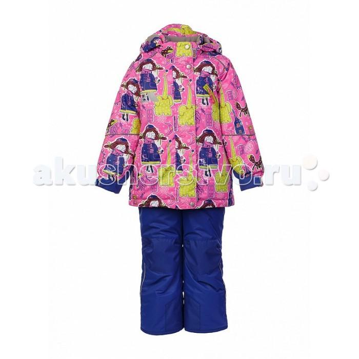 Oldos Комплект для девочки НеллиКомплект для девочки НеллиКомплект для девочки OLDOS Нелли отлично подойдет как для зимних прогулок в городе, так и для активного отдыха на природе. В нем девочке будет тепло и удобно заниматься любительским спортом в холодную и ветреную погоду.  До 116 размера в комплекте идет куртка и полукомбинезон, а со 122 размера - брюки со спинкой.  Костюм сочетает в себе самые передовые технологии, сложный крой и яркий дизайн. Благодаря мембранной ткани он обладает надежной защитой от ветра и мокрого снега и хорошо дышит. Для дополнительной защиты от мокрого снега на ткань нанесено специальное тефлоновое покрытие.  Утеплитель HOLLOFAN PRO 200/150 г/м2 не позволит  замерзнуть даже при очень низкой температуре. Для защиты от снега и ветра в куртке костюма есть внутренние манжеты с отверстием для большого пальца, регулируемый капюшон и снего-ветрозащитная юбка, на брюках - противоснежные муфты и усиление в местах износа.<br>