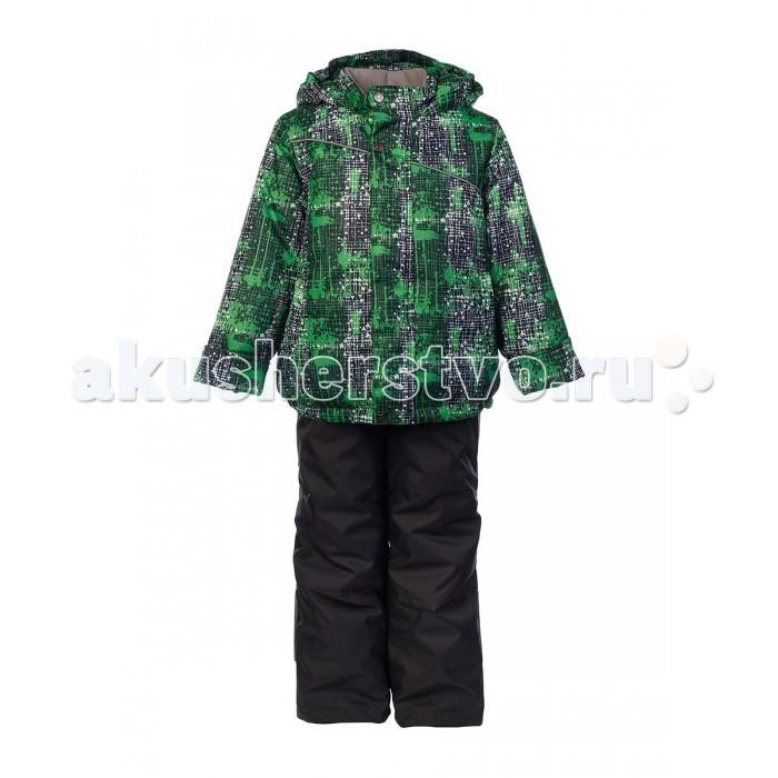 Oldos Комплект для мальчика ДжедКомплект для мальчика ДжедКомплект для мальчика OLDOS Джед удобный и практичный вариант зимней одежды на каждый день для мальчика. В нем ребенку будет тепло и комфортно даже в сильные холода.   На ткань костюма нанесена водо-грязеотталкивающая пропитка для защиты от мокрого снега и ветра. Утеплитель HOLLOFAN 300/150 г/м2 хорошо сохраняет тепло. Костюм прекрасно защищает от ветра и мороза благодаря слитному капюшону, воротнику-стойке, ветрозащитным планкам, внутренним трикотажным манжетам в рукавах куртки и снего-ветрозащитным муфтам в брючинах полукомбинезона. Рукава и брючины костюма подворачиваются.<br>