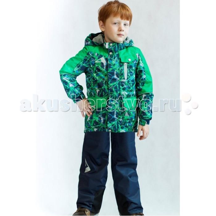 Oldos Комплект для мальчика СайманКомплект для мальчика СайманКомплект для мальчика OLDOS Сайман. В непромокаемом костюме из плотной мембранной ткани с водо- грязеотталкивающим покрытием из коллекции OLDOS ACTIVE Ваш малыш может смело кататься на скейте, велосипеде и роликах, не боясь промокнуть или испачкаться!  С легким современным утеплителем в куртке костюму не страшна небольшая минусовая температура, а множество продуманных полезных деталей: флисовая подкладка, съемный капюшон, карманы на молнии, нашивка-потеряшка, светоотражающие элементы, регулировка на талии и по низу куртки, ветрозащитные муфты в брюках и усиление в местах особого износа – сделают Ваши прогулки дольше, активнее и веселее.<br>