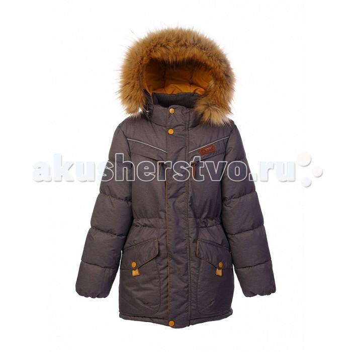 Oldos Куртка для мальчика ЖанКуртка для мальчика ЖанКуртка для мальчика OLDOS Жан – это стильная, удобная и очень теплая зимняя куртка для мальчика. В ней можно отправиться не только на прогулку, но и в гости, в театр или в школу даже в морозную погоду.  Легкий утеплитель из искусственного лебяжьего пуха отлично сохраняет тепло даже при очень низкой температуре, не впитывает влагу и не вызывает аллергии. Тефлоновое покрытие на ткани защищает от мокрого снега и грязи, облегчая процесс ухода за курткой. Благодаря регулируемому съемному капюшону, воротнику-стойке, ветрозащитным планкам с защитой подбородка, внутренним манжетам и регулируемой утяжке на талии снег и ветер не смогут попасть под куртку ребенка.<br>