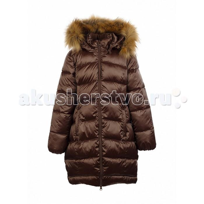 Oldos Пальто для девочки ЛизаПальто для девочки ЛизаПальто для девочки OLDOS Лиза – это стильное и очень теплое зимнее пальто для девочки. Оно отлично подойдет для долгих прогулок даже в морозные и очень ветреные дни. Пальто не линяет, не протирается и не теряет вид после множества стирок благодаря нейлону в составе ткани. Тефлоновое покрытие не пропускает мокрый снег, а утеплитель из искусственного лебяжьего пуха легкий, как натуральный, отлично сохраняет тепло, держит и быстро восстанавливает объем и не вызывает аллергию.  Пальто хорошо защищает от ветра и мороза благодаря съемному регулируемому капюшону с отстегивающейся опушкой, воротнику-стойке, ветрозащитной планке с защитой подбородка и внутренним саморегулирующимся трикотажным манжетам в рукавах.<br>