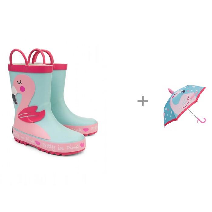 Купить Резиновая обувь, Oldos Резиновые сапоги для девочки и зонт Фло