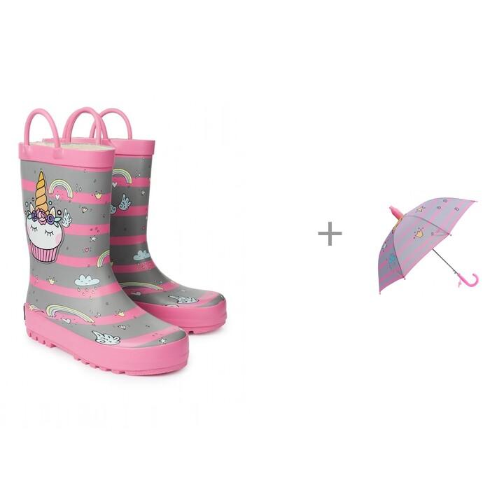 Купить Резиновая обувь, Oldos Резиновые сапоги для девочки и Зонт Пает
