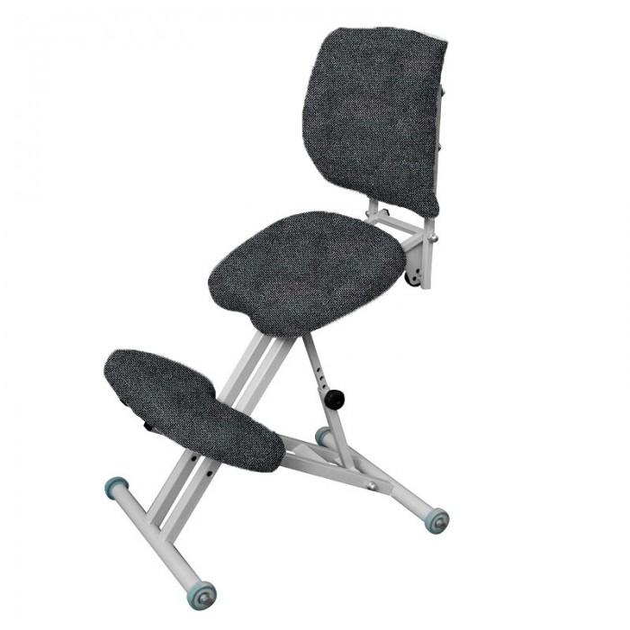 Олимп Коленный стул со спинкой СК2-1 (серый корпус).