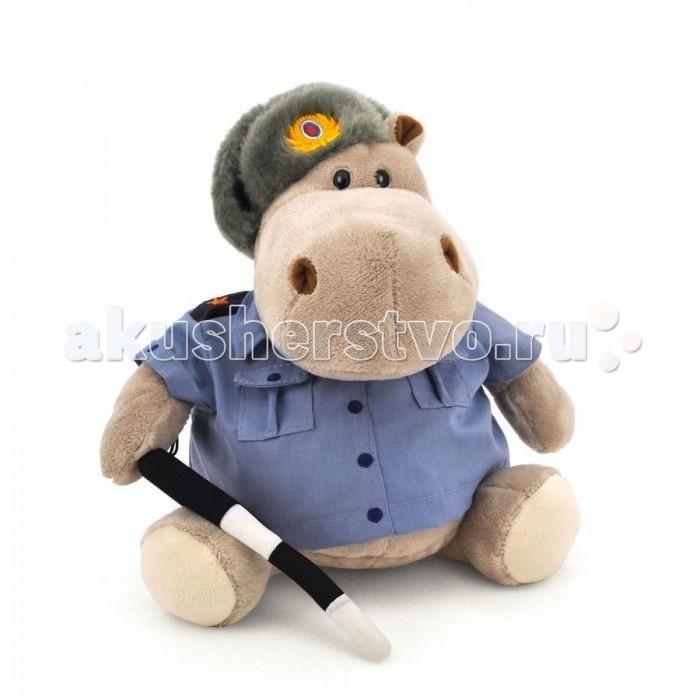 Мягкая игрушка Orange Exclusive Бегемот Полицейский
