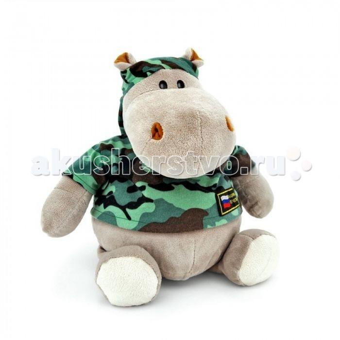 Мягкие игрушки Orange Exclusive Бегемот Военный