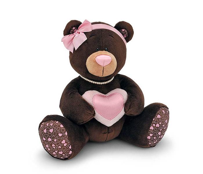Мягкие игрушки Orange Milk Медвежонок-девочка с сердцем стоимость