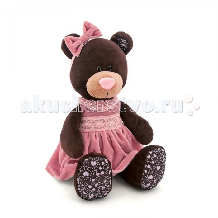 Мягкие игрушки Orange Milk Сидячая в Розовом Бархатном Платье, Мягкие игрушки - артикул:176156