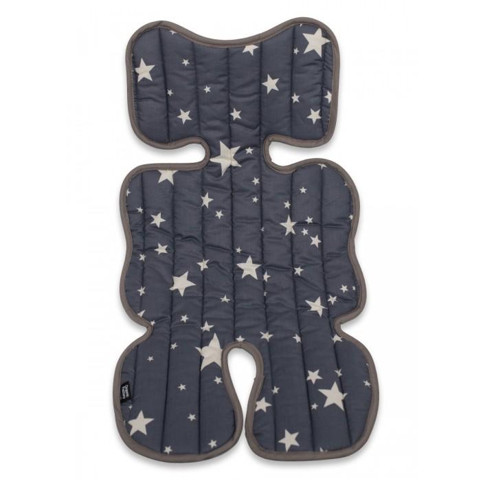 OrganicFactory Комплект аксессуаров в коляску Звёзды: матрасик стеганый и подушка-бабочка