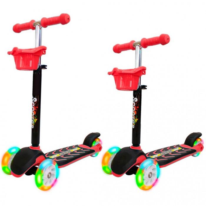 Купить Трехколесные самокаты, Трехколесный самокат Орион Midi со светящимися колесами