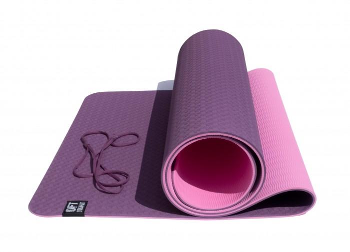 цена на Товары для йоги Original FitTools Коврик для йоги двухслойный 183х61,5х0,6 см