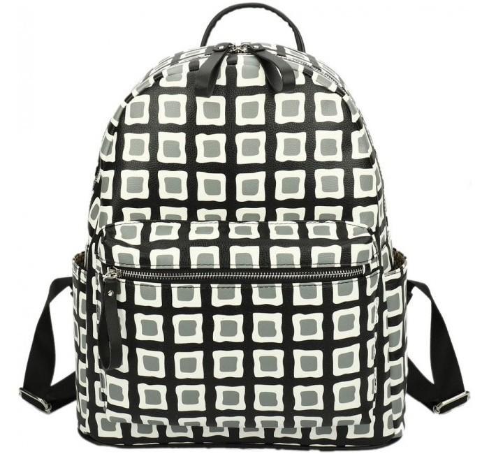 Сумки для детей Ors Oro Городской рюкзак кожаный Клетка ORS-0108