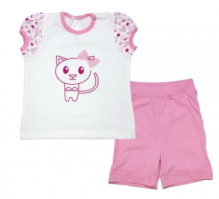 Купить Домашняя одежда, Осьминожка Комплект для девочки Этно-кошки 118-371П-26