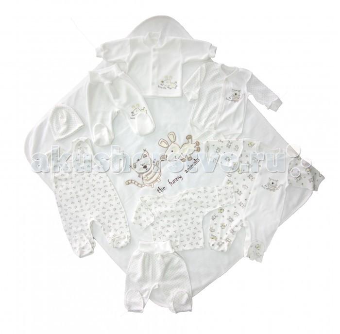 Детская одежда , Комплекты на выписку Осьминожка Фанни Энималс 10 предметов арт: 417514 -  Комплекты на выписку