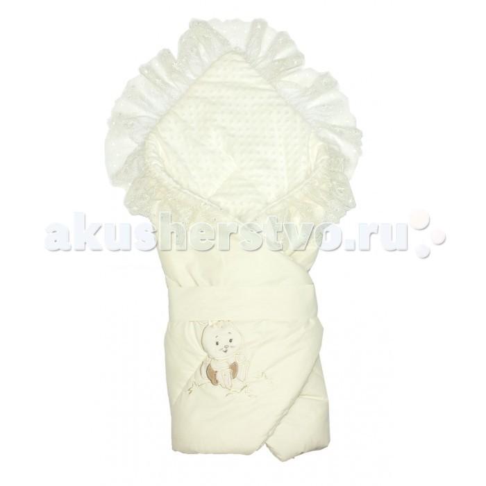 Детская одежда , Конверты на выписку Осьминожка Конверт-одеяло с кружевом и вышивкой Милый Зая арт: 374739 -  Конверты на выписку