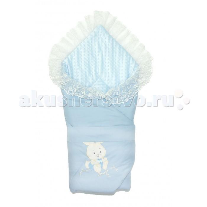 Осьминожка Конверт-одеяло с кружевом и вышивкой Милый Зая фото