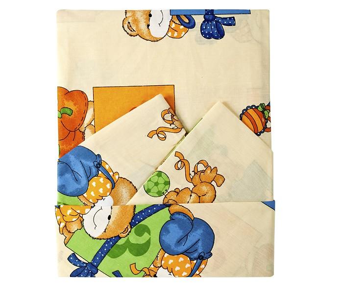 Постельное белье Осьминожка 3 предмета (простыня на резинке) простыня на резинке хлопковый край