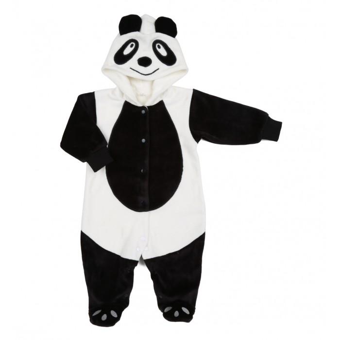 Осьминожка Комбинезон Панда В мире животныхКомбинезон Панда В мире животныхКомбинезон для новорожденных Панда выполнен в черно-белой цветовой гамме и имитирует внешний вид пандочки, который поднимет настроение не только вам, но и малышу.   Такая одежда станет отличным и просто незаменимым элементом гардероба, который подарит вашему малышу тепло и уют. Имеет удобные застежки-кнопки по всей длине, что облегчит переодевание малыша или смену подгузника.  Капюшон имеет ушки, на передней его части он украшен изображением мордочки. На самом комбинезоне, там, где будет находиться тело малыша, от шеи и до начала ножек изделие напоминает тельце панды. Стопы и рукава выполнены в темной расцветке.   Комбинезон для новорожденных выполнен из абсолютно качественного материала, который не вызывает аллергических реакций и раздражений на коже вашего малыша.   Верхняя часть изделия изготовлена из качественного велюра, который приятен коже, а подкладка сделана из интерлока.  Материал: высококачетсвенный велюр (состав: 80% хлопок, 20% п/э), на подкладке из интрелока (состав: 100% хлопок)  Уход: Ручная стирка при 30 гр.<br>