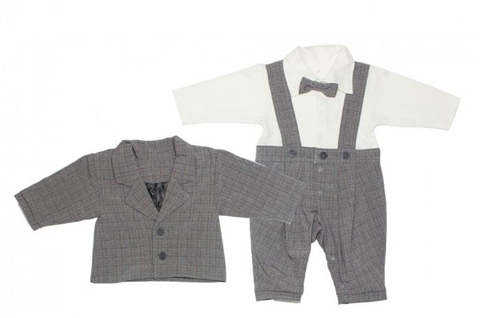 Осьминожка Комплект для мальчика (полукомбинезон и пиджак) Хочу в школу фото