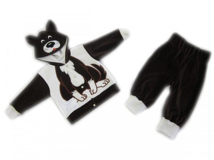 Осьминожка Костюм Собака В мире животныхКостюм Собака В мире животныхКостюм: кофточка и брюки для малышей Собака выполнен в коричнево-белой цветовой гамме и имитирует внешний вид собачки, который поднимет настроение не только вам, но и малышу.   Такая одежда станет отличным и просто незаменимым элементом гардероба, который подарит вашему малышу тепло и уют. Кофточка имеет удобные застежки-кнопки по всей длине, что облегчит переодевание малыша. Штанишки на широкой резинке.  Капюшон имеет ушки, на передней его части он украшен изображением мордочки. На животике изделие напоминает тельце животного.   Костюм для детей выполнен из абсолютно качественного материала, который не вызывает аллергических реакций и раздражений на коже вашего малыша.   Верхняя часть изделия изготовлена из качественного велюра, который приятен коже, а подкладка сделана из интерлока.  Материал: высококачетсвенный велюр (состав: 80% хлопок, 20% п/э), кофта на подкладке из интрелока (состав: 100% хлопок)  Уход: Ручная стирка при 30 гр.<br>