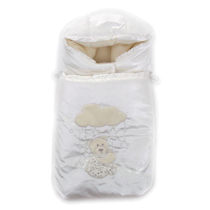 Зимний конверт Осьминожка Мишка на каруселиМишка на каруселиКонверт зимний меховой для прогулки.   Конверт зимний утепленный на боковых молниях с вышивкой Мишка на карусели. Защитит вашего малыша в зимний период от холода.   Отличного подойдет для Вашего малыша как для использования в коляске, так и в дальнейшем.  Состав: Верх: ткань курточная (100% п/э), подклад: флис (100% п/э), мех (70% шерсть, 30% п/э), наполнитель: холофайбер (100% п/э)  Уход: ручная стирка 30 градусов.<br>