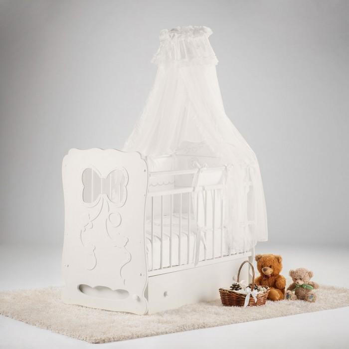 Детские кроватки Островок уюта Мальвина маятник поперечный с ящиком детские кроватки фея 603 с ящиком