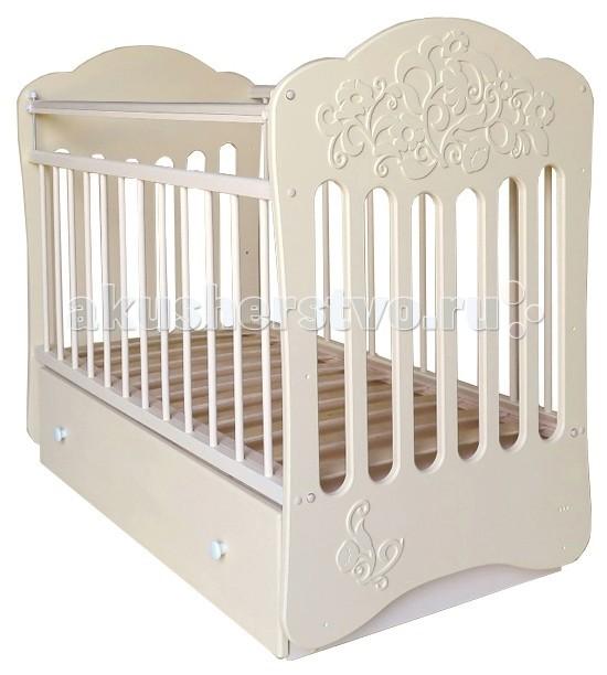 Детская кроватка Островок уюта Виола маятник поперечный