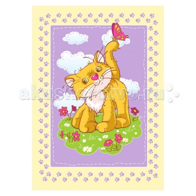 Одеяла Baby Nice (ОТК) байковое Котенок 100х140 см ермолино детское байковое 100х140 см