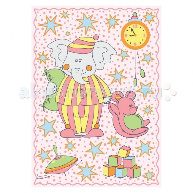 Одеяла Baby Nice (ОТК) байковое Пора спать 100х140 см