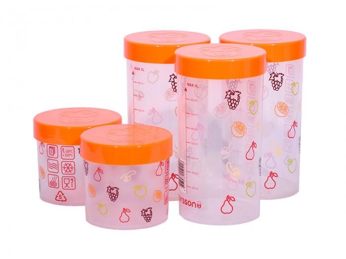 Купить Контейнеры для еды, Oursson Набор eмкостей для жидких и сыпучих продуктов 5 шт. JA55173