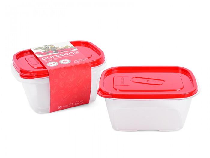 Контейнеры Oursson Набор пластиковых контейнеров 1.1 л 2 шт. kitchenaid набор прямоугольных чаш для запекания 0 45 л 2 шт красные