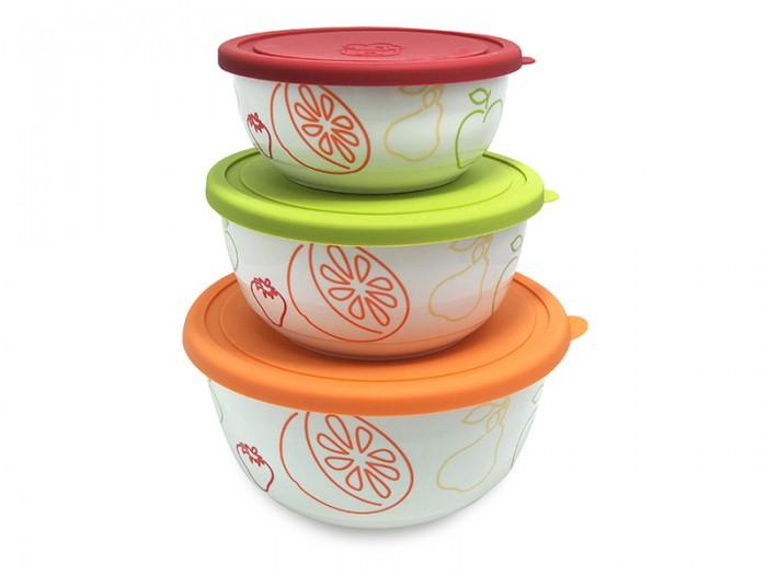 Контейнеры для еды Oursson Набор салатников с крышкой BS4084RC/MC набор салатников с крышкой oursson bs1890rc ga