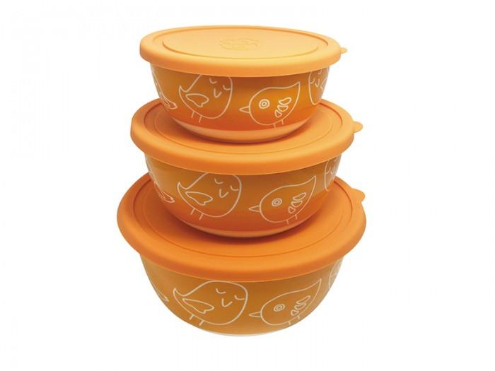 Контейнеры для еды Oursson Набор салатников с крышкой BS4085RC/OR набор салатников с крышкой oursson bs1890rc ga