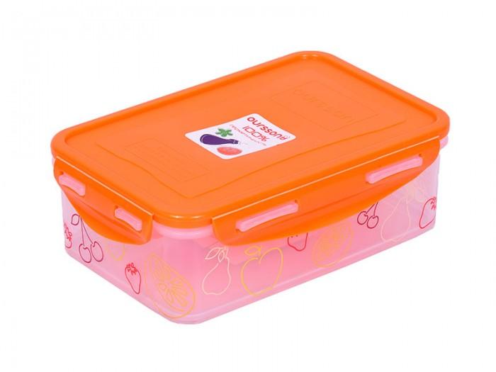 Фото - Контейнеры для еды Oursson Пластиковый контейнер 1.1 л CP1103-3S oursson контейнер cp1103s cp1103 1s оранжевый прозрачный