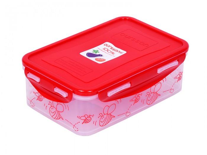 Фото - Контейнеры для еды Oursson Пластиковый контейнер 1.1 л CP1103-1S oursson контейнер cp1103s cp1103 1s оранжевый прозрачный