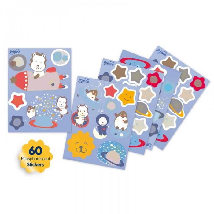 Аксессуары для детской комнаты Pabobo Ночник-наклейка не видемые днем фосфорные наклейки