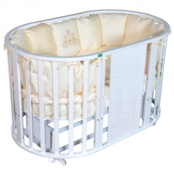 Кроватка-трансформер Palermo Betty Giraffe 6 в 1 универсальный маятник