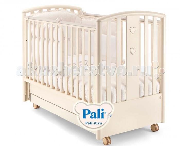 Детская кроватка Pali Lisa с матрасом поперечный маятник