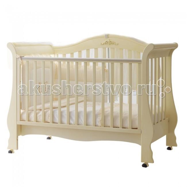 Детская кроватка Pali ReneeReneeДетская кроватка Pali Renee   Предназначена для детей от 0 до 5-ти лет. Бортики кровати опускаются на 20-25 см, один из них снимается полностью, так что кровать может использоваться как диванчик.  Особенности: Кровать сделана из выдержанного бука Все лаки, краски и клей - натуральные и нетоксичные Колеса снабжены блокирующим тормозом Днище состоит из деревянных реек В кровати имеется ящик для постельного белья<br>
