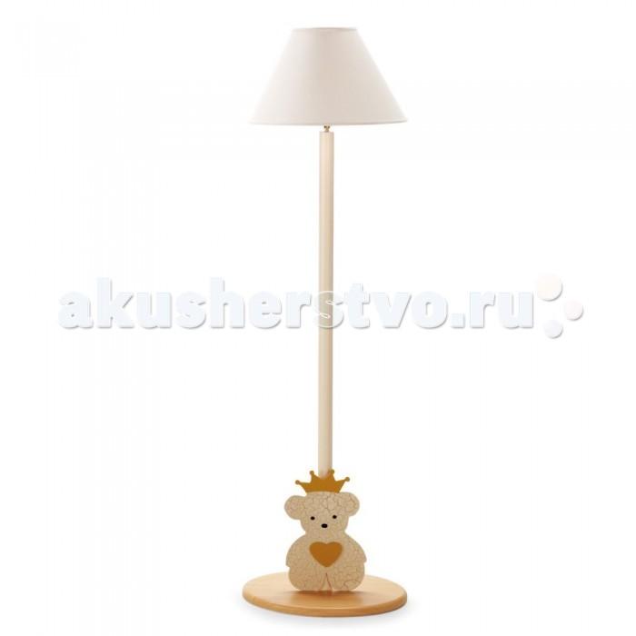 Светильник Pali торшер Caprice Royalторшер Caprice RoyalНапольная лампа прекрасно дополнит дизайн комнаты.  Украшена декоративными элементами в виде медвежонка.  Дополнительный свет и уют.  Размер ДхШхВ - 36х32х122 см.  Материалы - дерево (бук), ткань (абажур)<br>