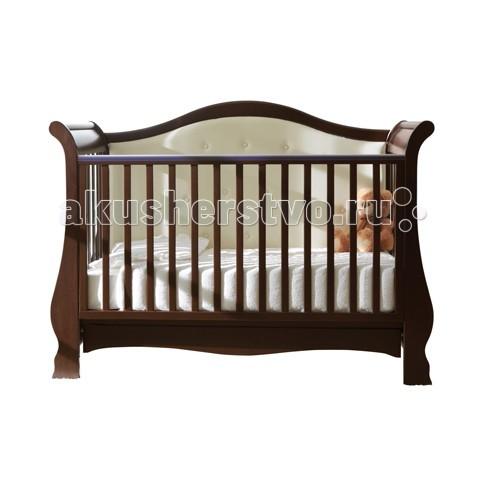 Детская кроватка Pali Vittoria CotVittoria CotДетская кроватка Pali Vittoria Cot  Выполнена в необычайно изысканном и оригинальном стиле. Она подарит Вашей крохе самые сладкие и спокойные сны, а Вам самим немного времени для отдыха от забот за малышом.   Регулируемая по высоте автостенка, силиконовые накладки на бортиках, устойчивые и надежные ножки, вместительный ящик для белья и возможность использования в качестве диванчика – это только часть преимуществ Pali Vittoria, которые непременно придутся по душе всем современным родителям.  На верхней части боковины установлены силиконовые накладки для зубов.  Подматрасник кровати выполнен в виде из неокрашенного бука и устанавливается в одном положении по высоте на расстоянии 64 см. от поднятой боковины.   Колеса покрыты резиновыми накладками , два колеса оборудованы блокирующим тормозом.   Имеется выдвижной ящик, разделенный на две секции, выполненный из ламинированных панелей.<br>