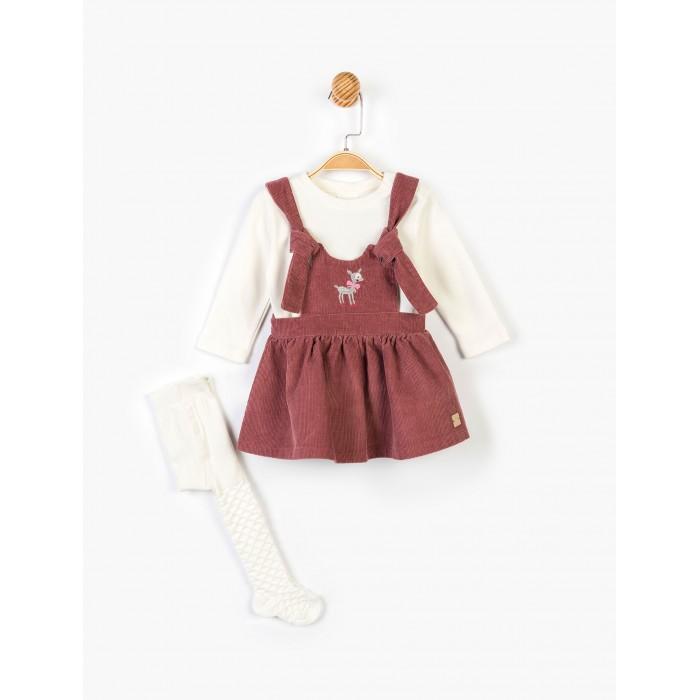 Panolino Комплект для девочки (кофта, сарафан и колготки) PN14890