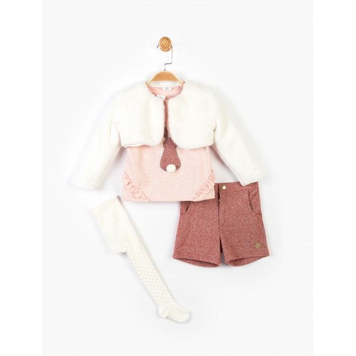 Купить Комплекты детской одежды, Panolino Комплект для девочки (шорты, кофта, болеро, колготки) PN14912
