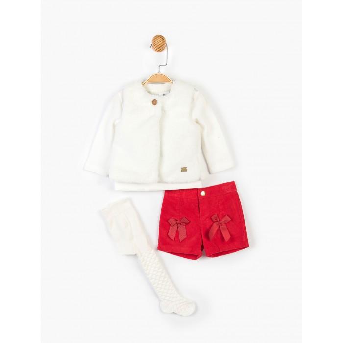 Panolino Комплект для девочки (шорты, кофта, жилет, колготки) PN14928