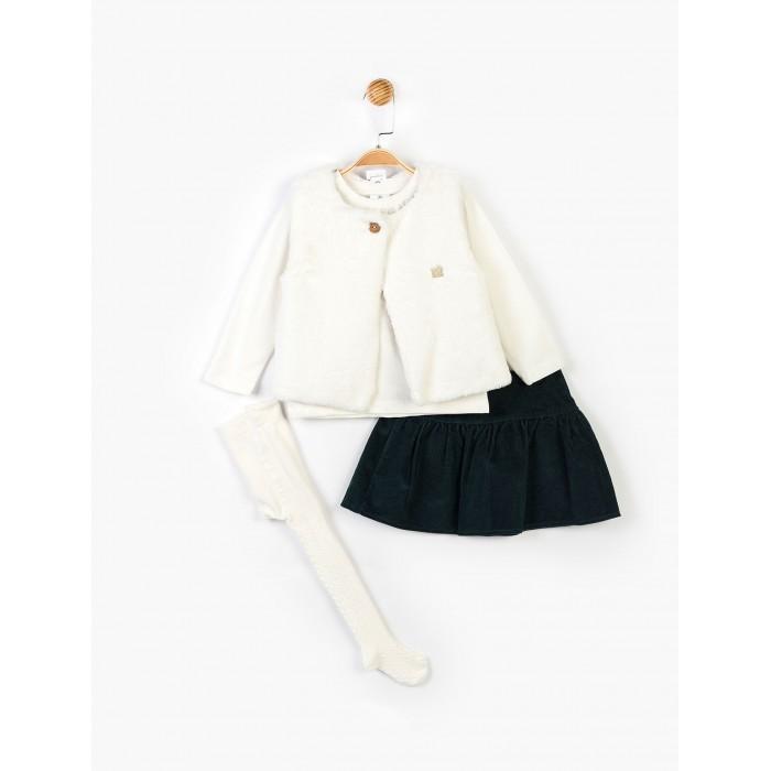 Panolino Костюм для девочки (юбка, кофта, колготки, жилет) PN14894