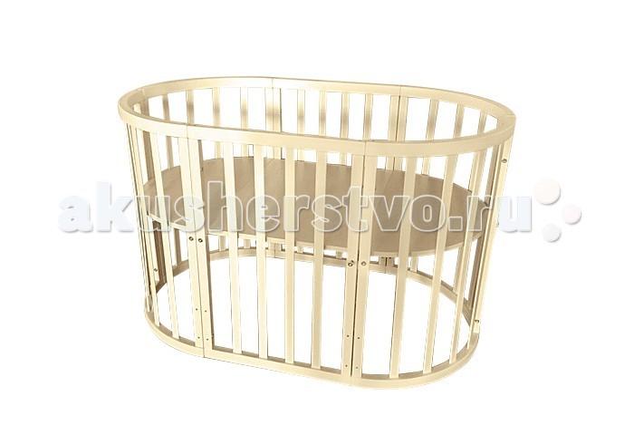 Детская мебель , Кроватки-трансформеры Папа Карло овальная 3 в 1 арт: 310399 -  Кроватки-трансформеры