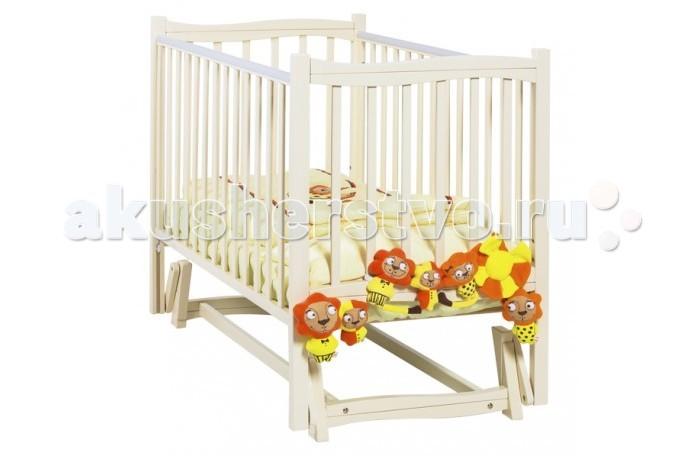 Детская кроватка Papaloni Fiore маятник продольный 120x60