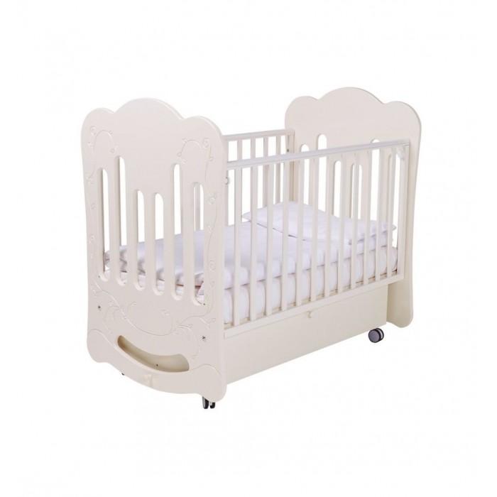 Детская кроватка Papaloni маятник Bloom 120х60