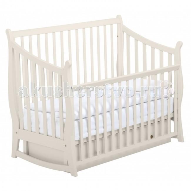 Купить со скидкой Детская кроватка Papaloni Maggy 125х65 маятник поперечный